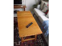 Ercol rectangular coffee table. 1970s Pine Line.