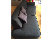 HABITAT 3 Seater Sedgewick Sofa grey - perfect condition - pick up in Fulham - pet and smoke free