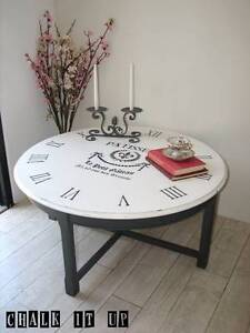 Stunning French Vintage inspired Clock Coffee Table ~ Like NEW Varsity Lakes Gold Coast South Preview