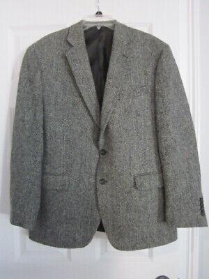 HARRIS TWEED herringbone wool sport coat jacket Blazer sz 44R By Stafford- New