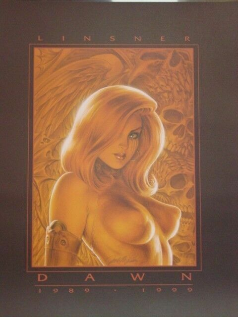 Joseph Michael Linsner DAWN 10th Anniversary Signed Print 1999 Cry For Dawn CFD