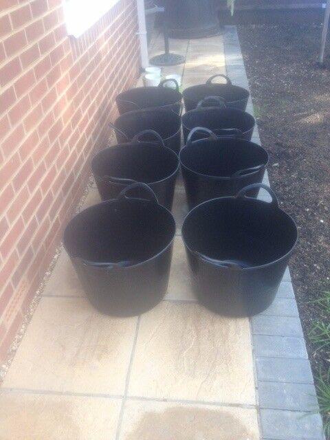 8x flexible garden tubs, new