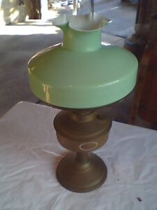 Antique Oil / Kerosene Matador Brenner Lamp W/ Orig. Cased Shade