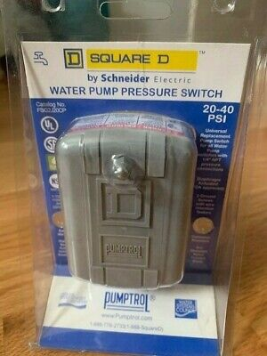 Square D By Schneider Electric Water Pump Pressure Switch 20-40 Psi Fsg2j20cp