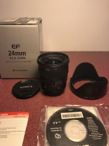Canon 24mm L series lens - rarely used.