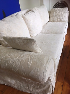 Sofa with removeable, washable slip covers