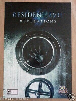 "WonderCon 2013 EXCLUSIVE RESIDENT EVIL ""Revelations"" Game promo poster CAPCOM"