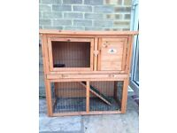 Rabbit/ guinea pig hutch with run.