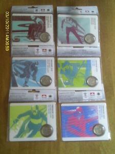 SERIE DE 9 PIECES DES OLYMPIQUES DE VANCOUVER DE 2010