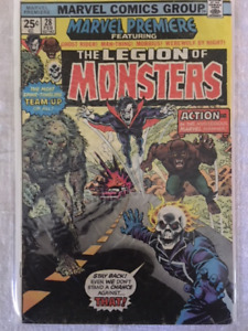 Marvel Premiere #28 comic - 1st appear. THE LEGION OF MONSTERS !