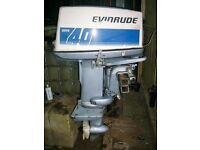 Evinrude Super 40 Short Shaft Outboard Engine