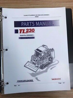 Takeuchi Tl230 Crawler Loader Parts Manual Sn 223000001 And Up