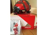 Specialized Small Fry Child cycle or scooter helmet. Red & Black. Adjustable. Aimed at age 3-7