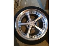 "18"" AC Schnitzer Type IV Racing Alloys x 4 Refurbished Look New with Tyres"
