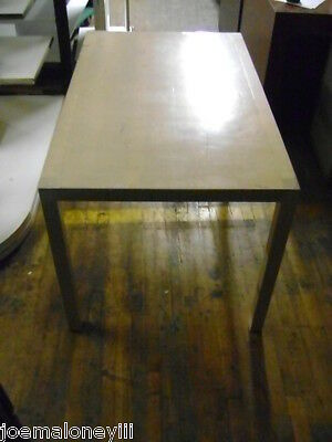 Retail Blonde Display Table Work Table Craft Table
