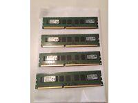 Kingston KVR16E11K4/32 RAM 32 GB 1600 MHz DDR3 ECC CL11 DIMM Kit (4 x 8 GB) 240-Pin