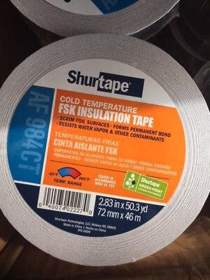 Shurtape Foil Scrim Kraft Fsk Tape 2.83in. X 50 Yd Hvac Ducts Insulation Tape
