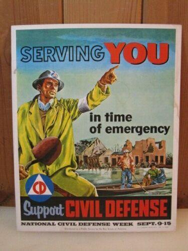 Original 1956 Civil Defense Boy Scout Poster B3544