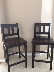 Chairs - Pair - Solid Maple - Counter Height