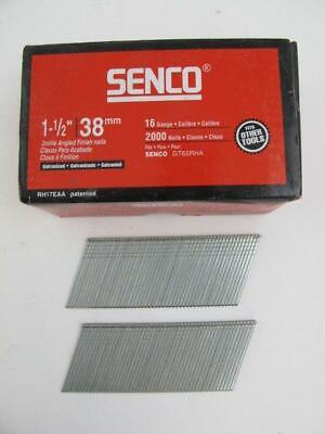 2000 Count Senco Galvanized 1-12 Angled Finish Nail Gun 16 Ga Nails Rh17eaa