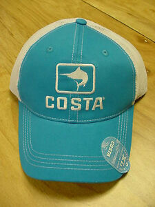 BRAND NEW COSTA DEL MAR MARLIN MESH ADJUSTABLE CAP HAT  BLUE STONE
