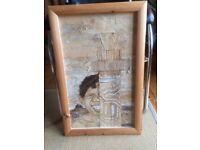 An Original Artwork - Aboriginal Bark Collage , Professionally Framed