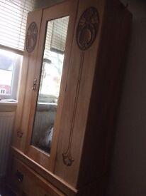 Wardrobe - oak antique
