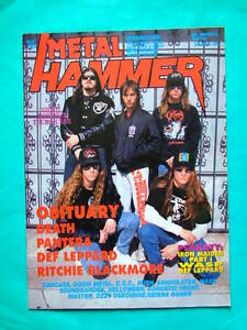Polish magazine Metal Hammer 92 Obituary Pantera Def Leppard Purple Haze Rush - <span itemprop=availableAtOrFrom>Europe, Polska</span> - Polish magazine Metal Hammer 92 Obituary Pantera Def Leppard Purple Haze Rush - Europe, Polska