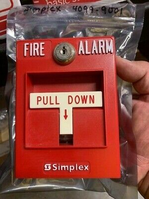 Simplex 4099-9001 Addressable Pull Station 1 Yr. Protection Plan Free Shipn