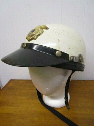 Original Vintage Highway Patrol Police Motorcycle Helmet ~ SIMPLEX