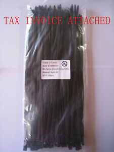 1000PCS Black Nylon Cable Ties 2.5mmx150mm High Quality UV Stabilised