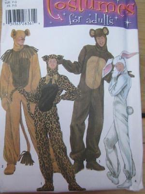 SEWING PATTERN HALLOWEEN COSTUME ADULT SZ S M L UNCUT LION CAT BEAR RABBIT - Cat Halloween Costume Pattern