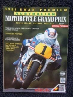 Australian Motorcycle Grand Prix, Phillip Island Apr 89, Program