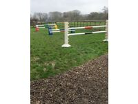 Lightweight Showjumps - x1 set of wings, x2 sets of blocks and x6 poles