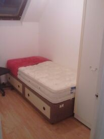 SINGLE BED (mattress not included)