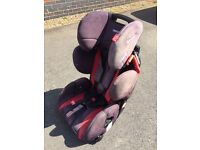 Recaro young sport child car seat. Red and black.