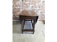 VINTAGE DARK WOOD FOLDING DINING OR SIDE TABLE £35