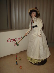 "DANBURY MINT "" CROQUET "" - SATURDAY EVENING POST  -  $129.99"