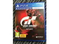 PS4 Gran Turismo Sport. Played just once, so obviously in excellent condition.
