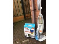 Vax Cleaner Hard Floor Pro+ Steam & Detergent with box of cleaning pads