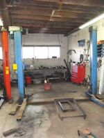 Solid Werther and Hofmann Car lifts/hoist for sale