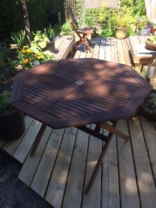 Wooden Patio Table & Chairs Set