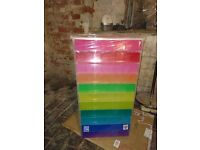 Brand New - Coloured Plastic Drawer Unit