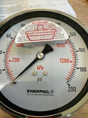Enerpac Hydraulic Gauge 200psi  Part Number 9100075