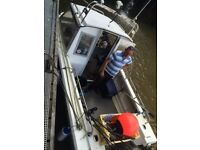 18 ft fishing boat for sale .