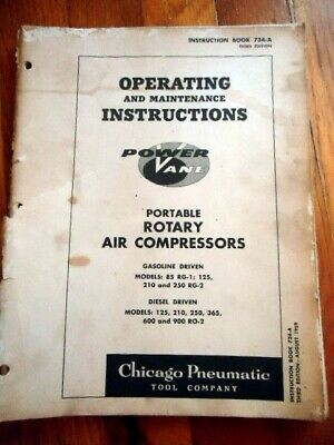 Power Vane Rotary Air Compressor Owners Operators Manual