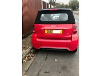 Red Smart Fortwo Cabrio Passion Convertible 2012 23k excellent condition FSH