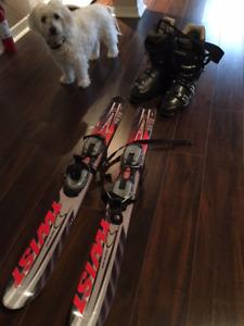 Snowblade - mini ski - bottes