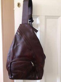 Genuine Leather across body saddle bag