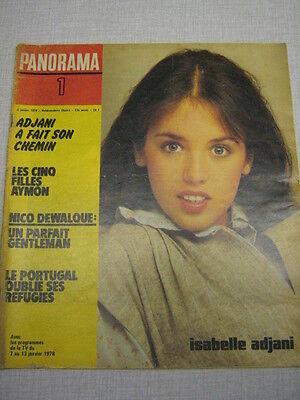 PANORAMA 01 (6/1/78) ISABELLE ADJANI NICO DEWALQUE CHRISTIAN BARBIER
